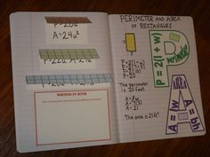 Here's a terrific set of interactive notebook pages on area and perimeter.