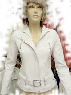 #Womens White Leather Jacket  leather jacket #2dayslook #new leather jacke#jacketfashion  www.2dayslook.com