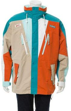2b6951fc Chuting Jacket Element w/ Tags. Funnel NeckColumbiaMotorcycle JacketRain  JacketWindbreakerHoodsCowlsRiders JacketCooker Hoods. Men's multicolored Kith  x ...
