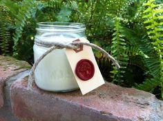 Honeysuckle  Handmade Soy Candle  8 oz Mason Jar