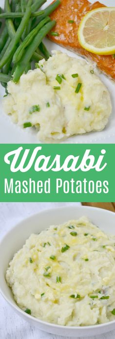 Wasabi Mashed Potatoes for 2 is a spicy, asian inspired twist on a classic comfort food. Pair with fish, pork or chicken to spice up a romantic dinner for two!