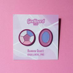 Steven Universe Rainbow Quartz Gem Pins Soft Enamel Pin Set