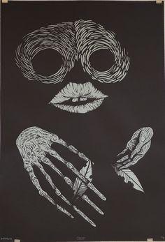 """""""Greep"""" de Arthur de Raucourt Sérigrpahie sur papier  D'après le court métrage Lagi Senang Jaga Sekandang Lembu"""