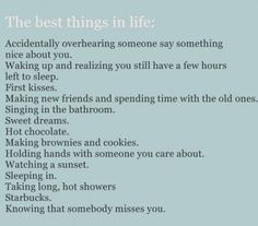 the best things..