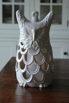 vintage ceramic owl lantern