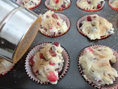use whole FROZEN cranberries to make perfect cranberry muffins!  Reason and recipe here.