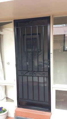 Steel security door with stainless steel mesh installed in Mt Waverley. & Kings Security Doors Steel Doors u0026 Window Grilles - Kings Security ... pezcame.com