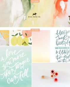 Rifle Paper Co (branding backwards via Newbill Newbill rose) Web Design, Blog Design, Design Art, Blogging, Rifle Paper Co, Identity Design, Graphic Design Inspiration, Typography Design, Just In Case