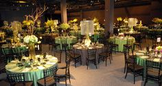 83 tables with 5 different centerpieces at the Franklin Institute, Philadelphia PA {Design: TableArt}
