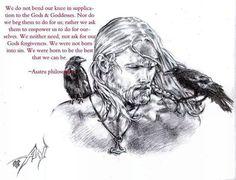 Odin and his ravens, Huginn (wisdom) and Muninn (memory)...