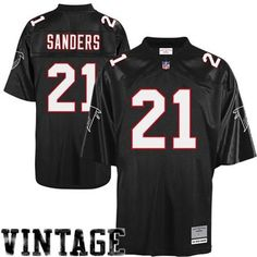 Deon Sanders Falcons All titched MItchel & Ness Throwback Jersey Image 1