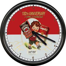 Campbells Soup Kids Sub Sandwich Shop Sign Wall Clock