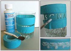 Lisa Liza Lou Designs: Personalize a glass tumbler with Martha Stewart Glass Etching Cream