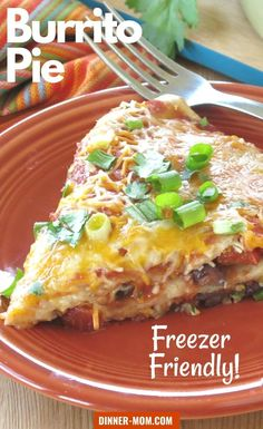 Burrito Pie Casserole makes Taco Tuesday dinners easy! Just layer and bake. It's freezer friendly too which means you should make several up while you have all the ingredients out! Easy Kid Friendly Dinners, Freezer Friendly Meals, Make Ahead Freezer Meals, Quick Easy Meals, Mexican Dinner Recipes, Vegetarian Recipes Dinner, Delicious Dinner Recipes, Meatless Recipes, Other Recipes