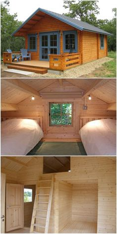 genius ideas for your tiny house cabin project 19 ~ Best Dream Home Cabin House Plans, Cabin Kits, Tiny House Cabin, Log Cabin Homes, Tiny House Design, Small House Plans, Tiny House Shed, Shed Cabin, Small Wooden House