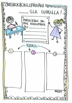 Suosikkipäiväni ___ luokalla - lukuvuoden loppuun. Classroom Inspiration, School Classroom, Rubrics, Classroom Management, Reflection, Language, Teaching, Education, Languages