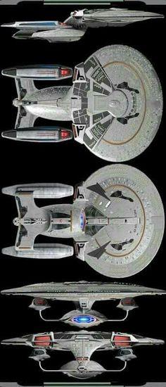 Extra-heavy Dreadnought refit of an older Galaxy-class exploration cruiser Spaceship Art, Spaceship Concept, Concept Ships, Science Fiction, Star Wars, Alien Nation, Vaisseau Star Trek, Stark Trek, Starfleet Ships