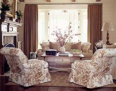 English country living room - stunning mantle!