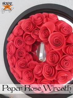 They wrapped the foam wreath with crepe paper to start so it was easier to place the roses without the background showing.