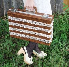 DIY Lace Briefcase