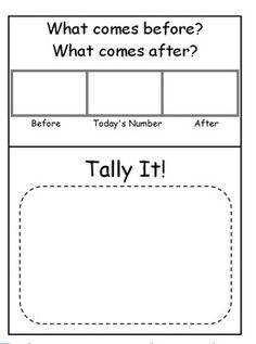 Calendar / Math Binder Sheets/..laminate for morning meeting