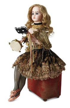 """Sanctuary: A Marquis Cataloged Auction of Antique Dolls: 42 Wonderful French Musical Automaton """"Danseuse"""" by Leopold Lambert"""
