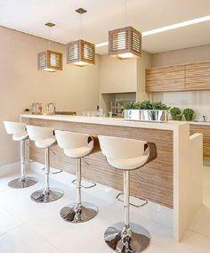 23 Clever DIY Christmas Decoration Ideas By Crafty Panda Modern Kitchen Design, Interior Design Kitchen, Modern Interior, Home Decor Kitchen, Home Kitchens, Cuisines Design, Kitchen Remodel, Sweet Home, House Design