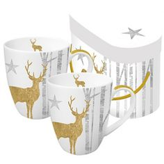 Set 2 căni din porțelan PPD Mystic Deer, 350 ml Sugar Bowl, Bowl Set, Mugs, Tableware, Mystic, Vintage, Deer, House, Shopping
