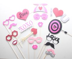 19Pc * I Heart You/Wedding Photo Booth Props/Photobooth Props by ThePartyGirlStudio on Etsy https://www.etsy.com/listing/230387852/19pc-i-heart-youwedding-photo-booth