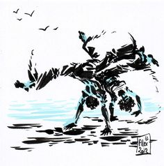 Encres : Capoeira-69 [ #capoeira #ink #painting ]
