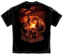 NEW VERY COOL T-SHIRT DRAGONS FIREFIGHTER FEAR NO EVIL SIZE MEDIUM