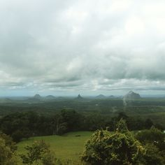 View of the glasshouse mountains from Mary Cairncross lookout