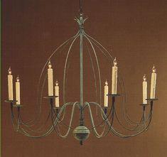 Brass Eight-Arm Birdcage Chandelier Dining Room Lighting, Rustic Lighting, Home Lighting, Birdcage Chandelier, Country Chandelier, Hanging Lights, Wall Lights, Ceiling Lights, Antique Copper