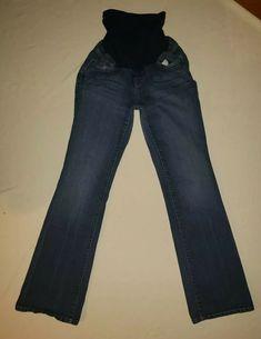 0d040036ff162 Motherhood Maternity Jeans Size Large US Dark Denim Cute Casual Basic ???? #