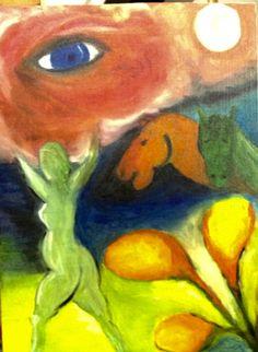 Studie Chagall olieverf 2016