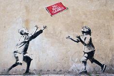 Banksy Graffiti, Street Art Banksy, Bansky, Banksy Canvas Prints, Canvas Art, Art Prints, Banksy Stencil, Stencil Art, National Gallery Of Art