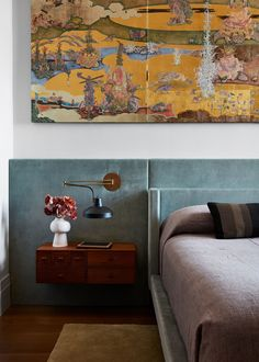 For a pair of loyal clients, designer Andre Mellone crafts a textured, serene home imbued with his inimitable aesthetic Home Bedroom, Master Bedroom, Bedroom Decor, Bedrooms, Design Bedroom, Apartment Projects, Apartment Design, Architecture Restaurant, Brooklyn Apartment