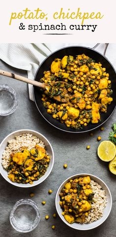 This vegan Potato, Chickpea and Spinach Curry is the perfect one pot dinner. Packed full of spices and hearty veggies it's healthy and full of flavour.