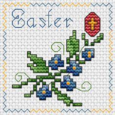 Easter free cross stitch pattern