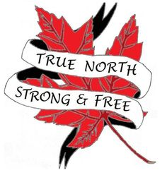 Canada Maple leaf True North Strong and free photo Bad Tattoos, S Tattoo, Trendy Tattoos, Sleeve Tattoos, Tattoos For Guys, Tatoos, Tattoo Quotes, Tattoo Sleeves, True Tattoo