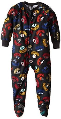 ddb06e270 NFL All NFL Team Boys Blanket Sleepers 6 Months Black     You can get