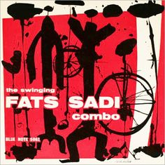 "Fats Sadi Combo ""The Swinging Fats Sadi"" Blue Note Records BLP 5061 10"" LP Vinyl Microgroove Record (1955) Album Cover Design by Reid Miles"
