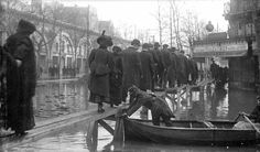January 1910 Rowing down the street: When the Seine river put Paris underwater