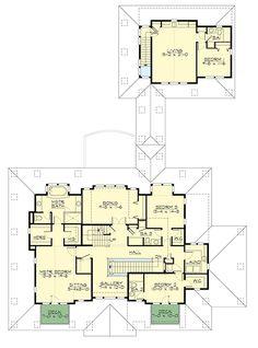second floor -- Plan 23660JD - Stylish Northwest House Plan With Garage Apartment (Architectural Designs)
