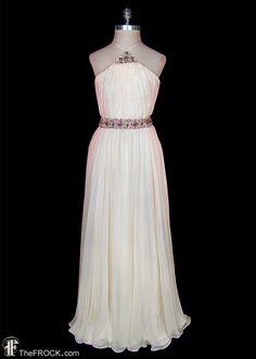 1930s wedding / evening dress Jean Harlow by TheFrockDotCom Jean Harlow, Furisode Kimono, Beste Jeans, 1930s Wedding, Evening Dress Patterns, Vintage Outfits, Flapper, Grecian Goddess, Evening Dresses For Weddings