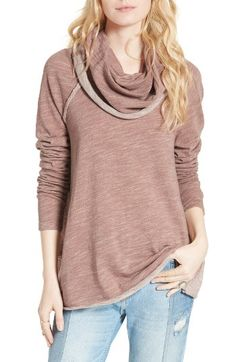 Free People Free People 'Beach Cocoon' Cowl Neck Pullover available at #Nordstrom