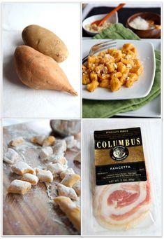 Sweet Potato Gnochi with Hazelnuts (or Pecans)