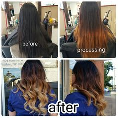 Ombre color correction