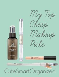 Top Cheap Makeup Picks! #eye primer #e.l.f. cosmetics from #CuteSmartOrganized.wordpress.com