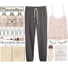 715 light pink by anavukadinovic on Polyvore featuring moda, Talula, H&M, Converse, Dogeared, Miss Selfridge, Aesop, Go Jump in the Lake, Pink and converse